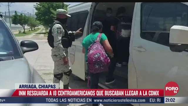 inm resguarda a 18 centroamericanos que buscaban llegar a cdmx