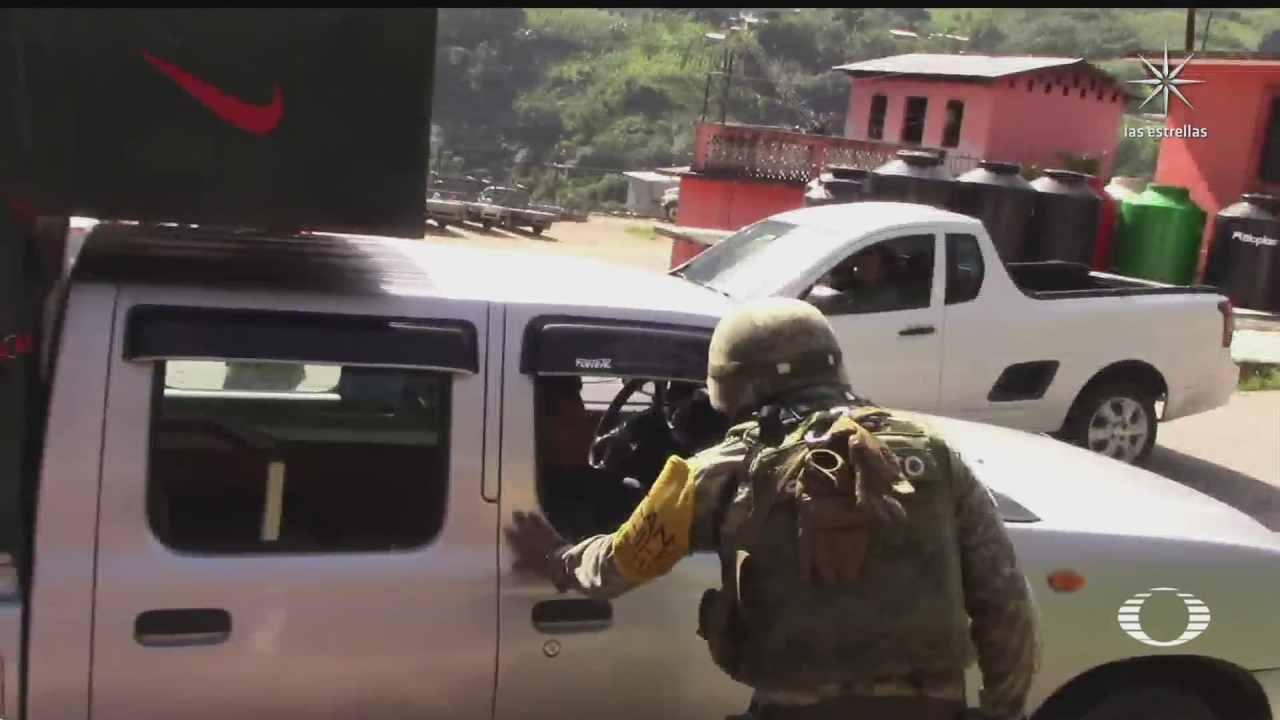 instalan retenes en chenalho para buscar armas robadas a la guardia nacional