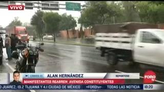 manifestantes reabren avenida constituyentes