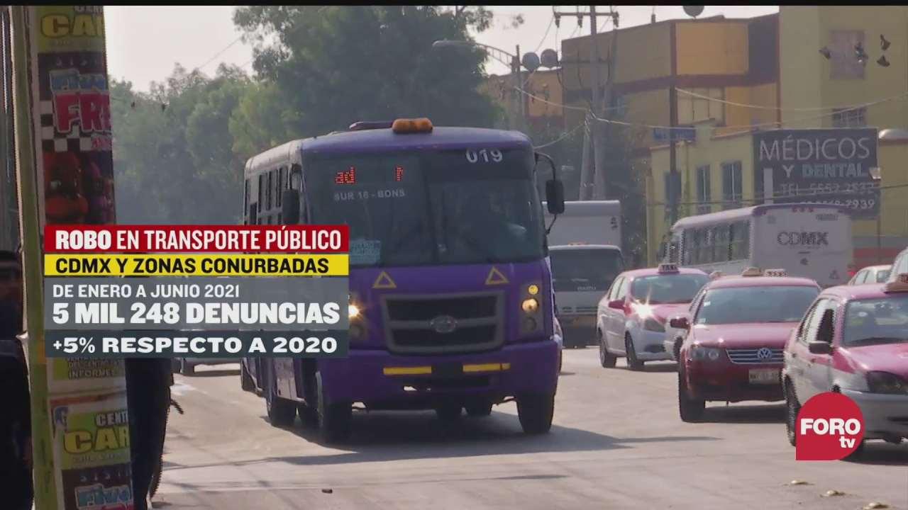 mas de 5 mil denuncias por robo en transporte publico en el valle de mexico