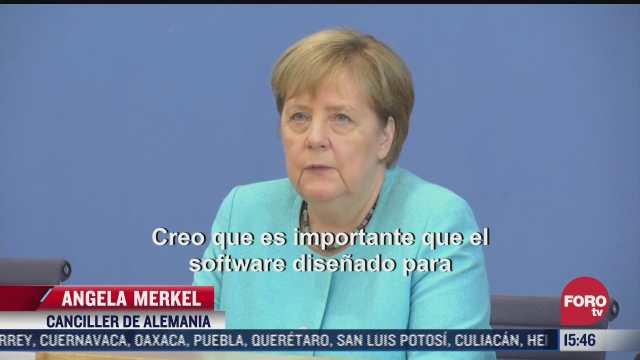 merkel pide restricciones del software pegasus