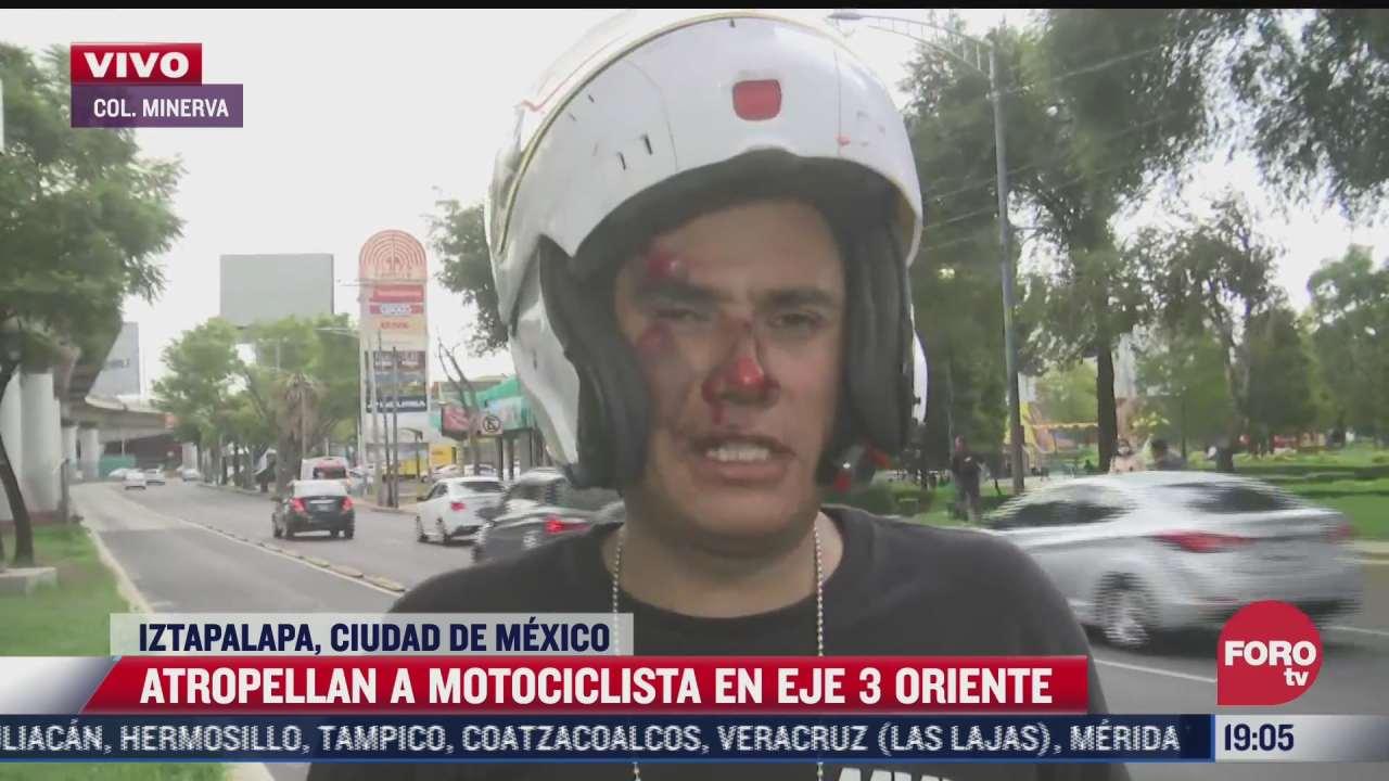 motociclista atropellado vehiculo en eje 3 oriente