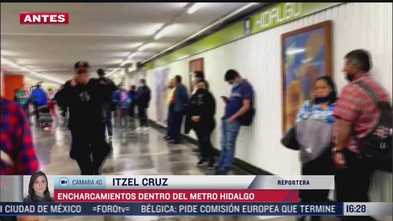 reportan encharcamientos dentro del metro hidalgo en cdmx