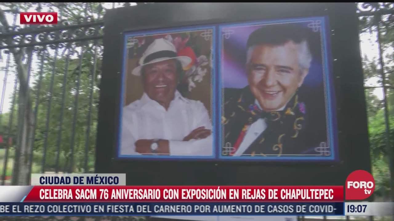 sacm celebra 76 aniversario con exposicion en rejas de chapultepec