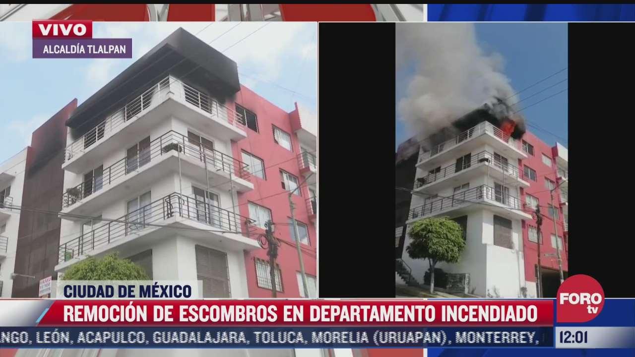 se incendia un departamento en pedregal de san nicolas tlalpan