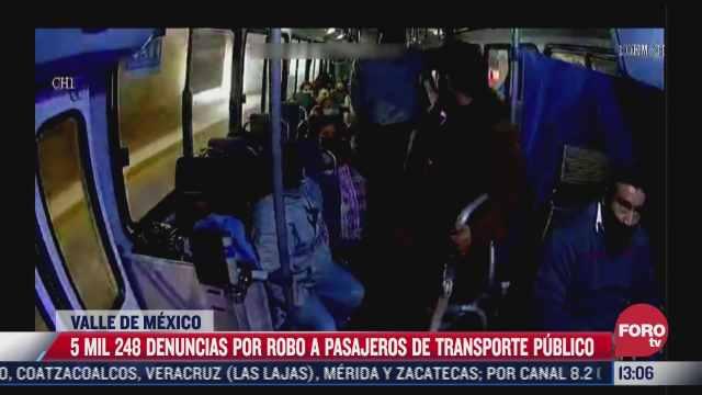 se registra repunte de denuncias por robos al transporte publico en el valle de mexico