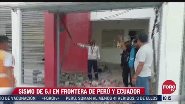 sismo de 6 1 en frontera de peru y ecuador