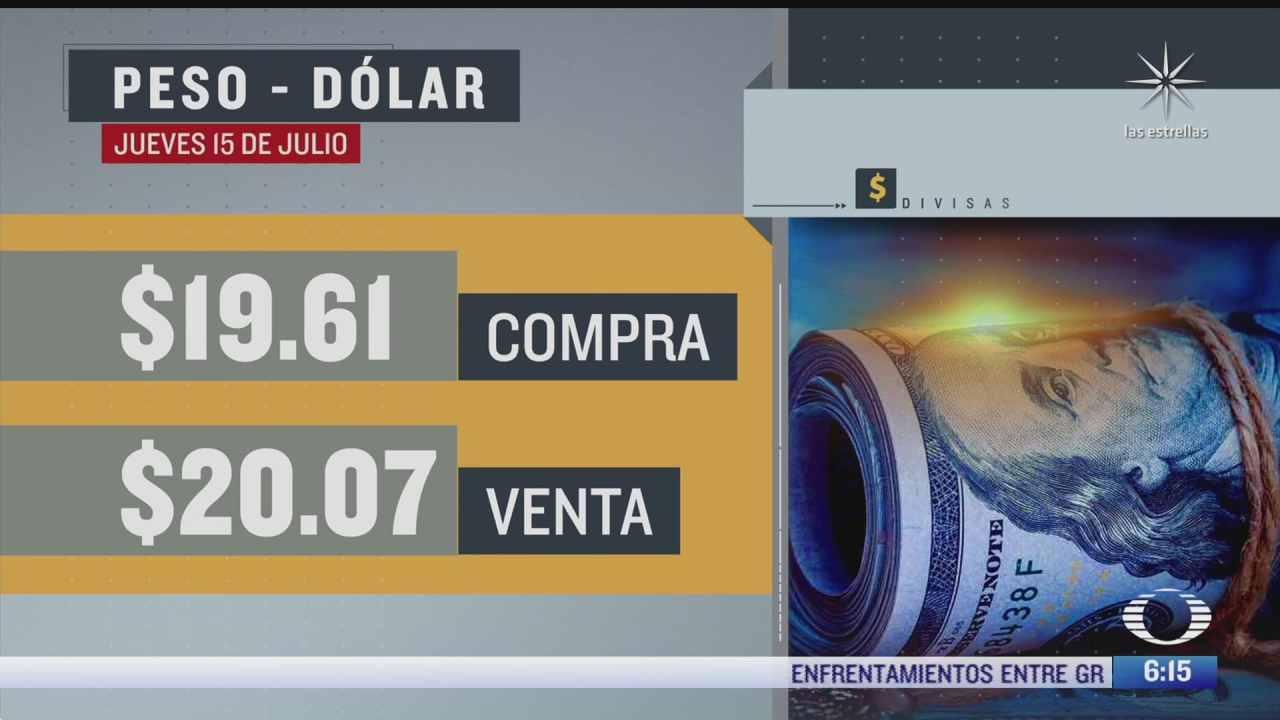 El dólar se vendió en $20.07 en la CDMX del 15 julio 2021
