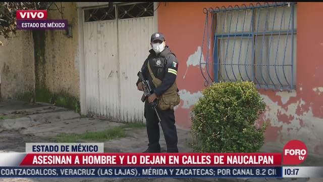 Asesinan a hombre en Naucalpan, Estado de México
