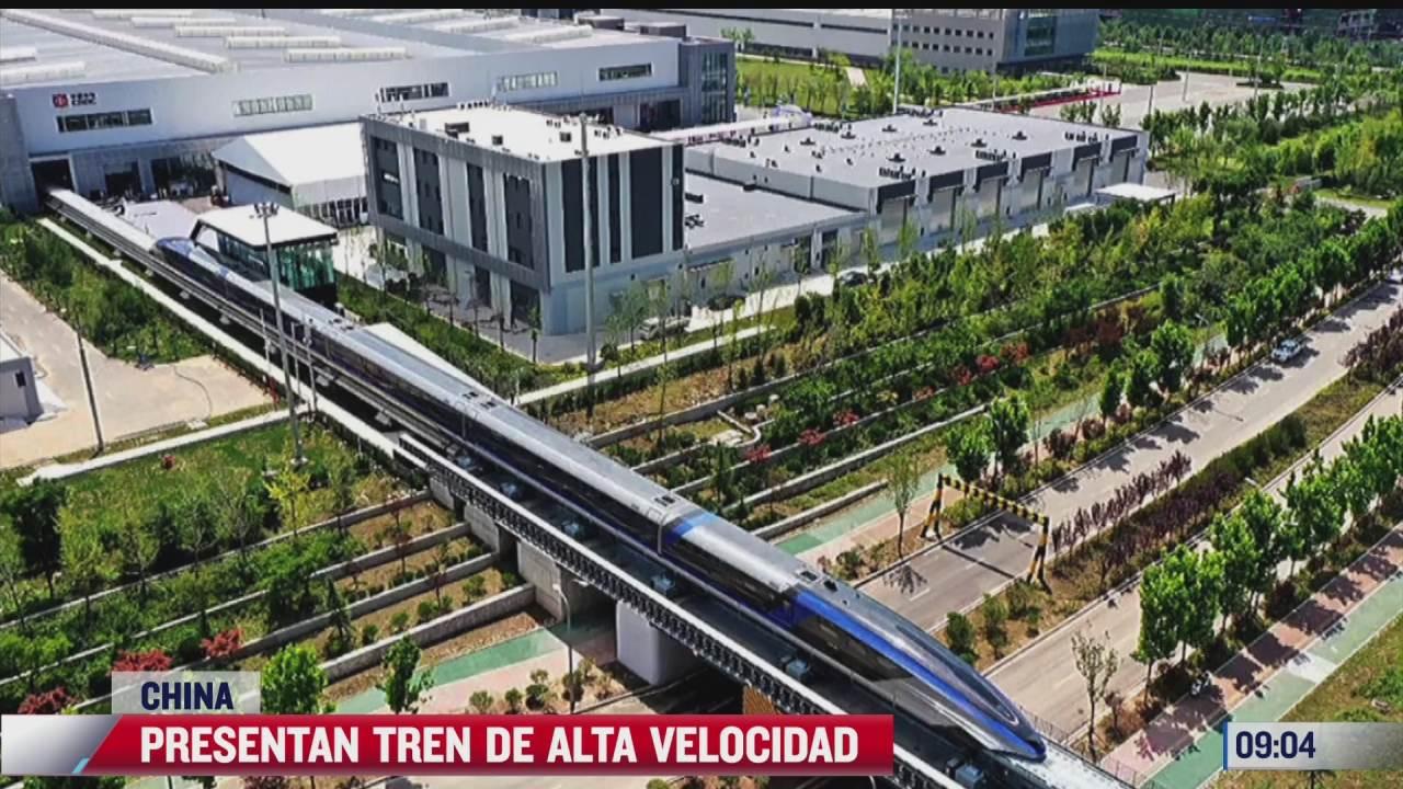 tren en china vuela gracias a fuerza electromagnetica alcanza 600 kms hora