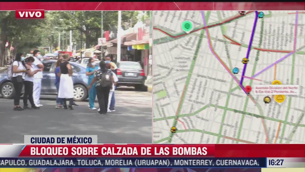 vecinos bloquean calzada de la bombas cdmx