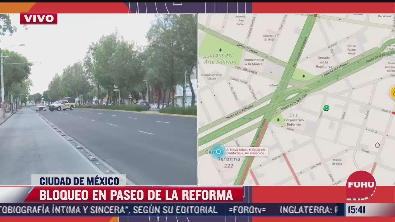 vecinos cierran avenida paseo de la reforma ante falta de agua y luz