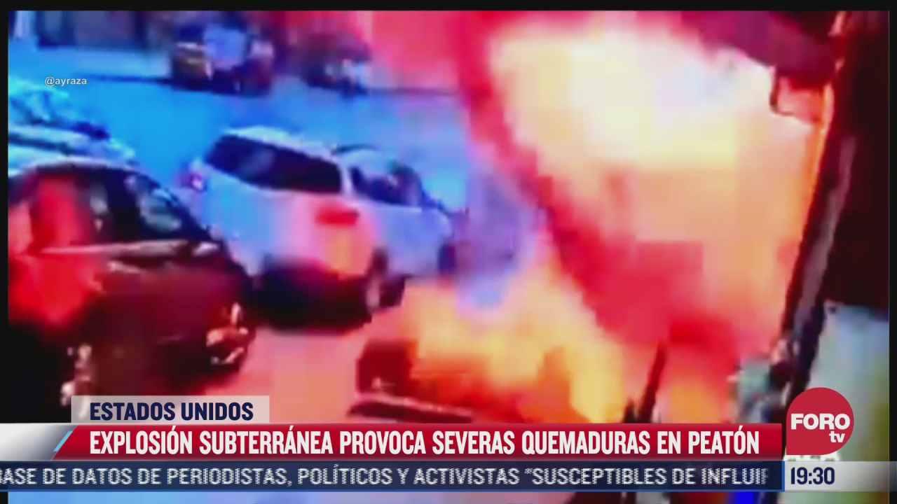 video explosion subterranea provoca quemaduras de segundo grado a hombre en eeuu