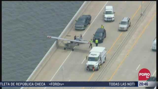 video piloto adolescente aterriza avioneta en puente