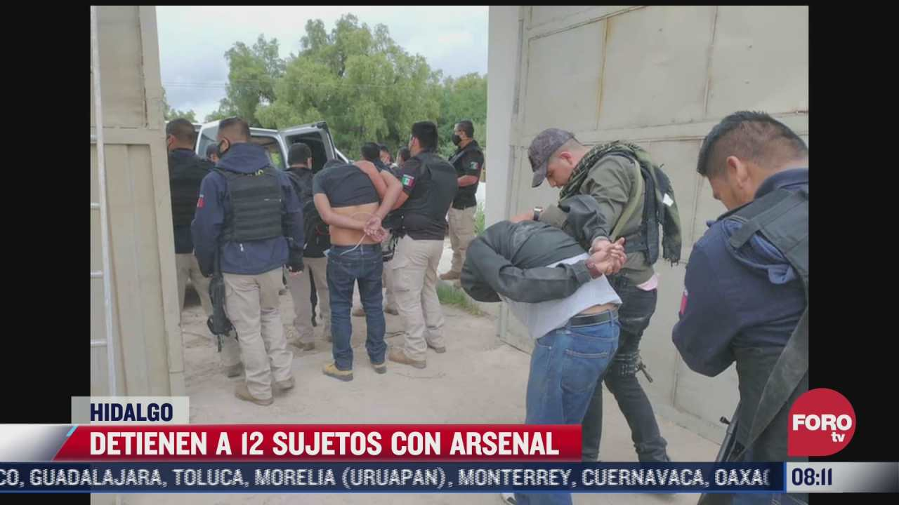 vinculan a proceso a 12 sujetos por el delito de portacion de armas en hidalgo