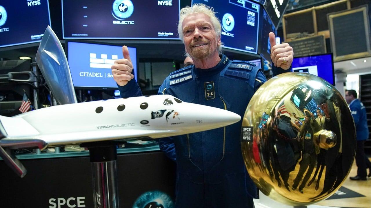 Virgin Galactic despega al espacio con el magnate, Richard Branson