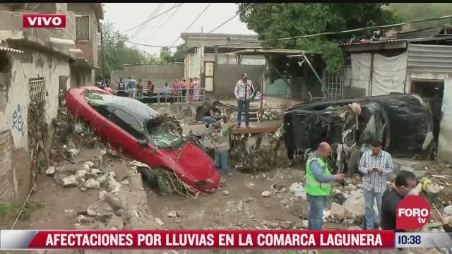 afectaciones por lluvias en la comarca lagunera