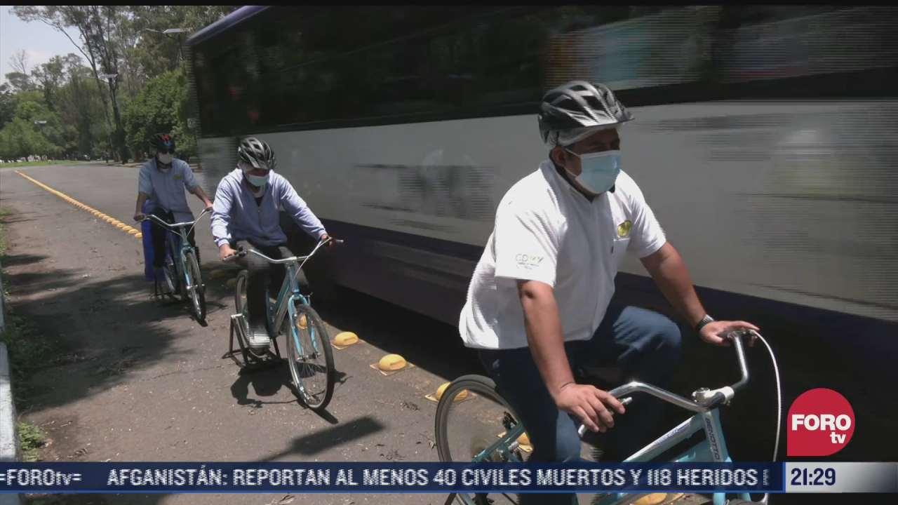 concientizan a choferes del transporte publico para evitar accidentes con ciclistas