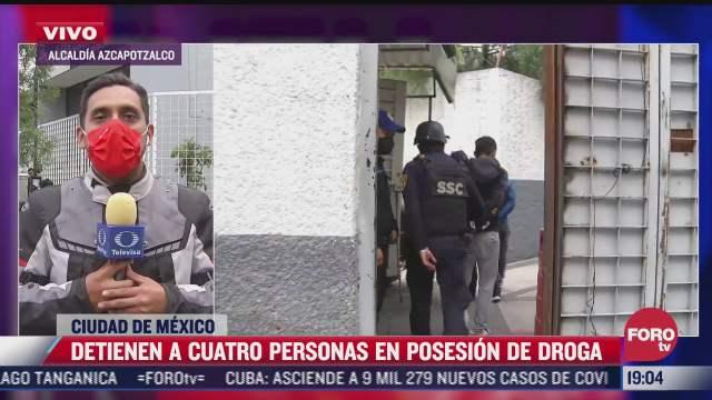 detienen a cuatro personas por posesion de drogas en colonia morelos