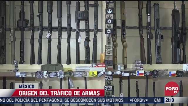 el origen del trafico de armas de eeuu hacia mexico