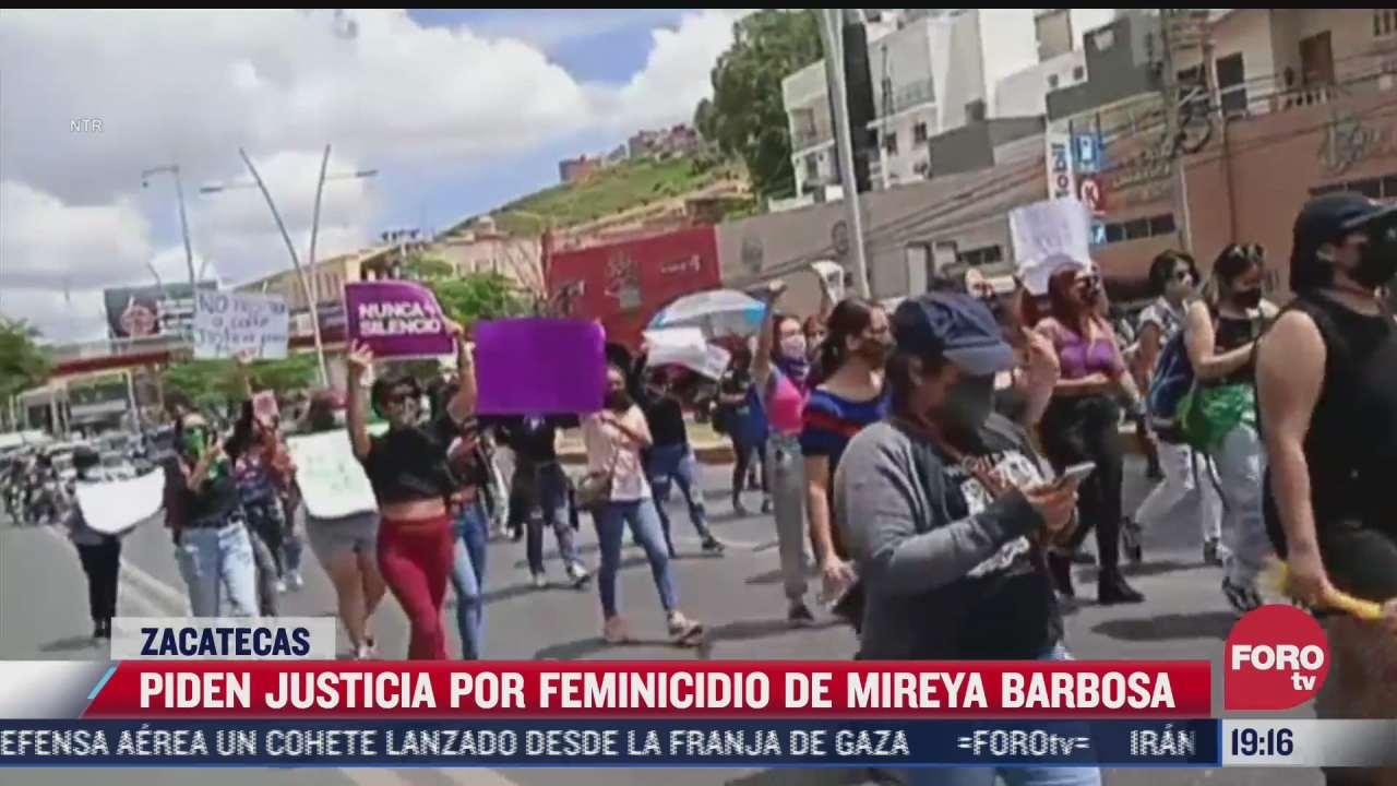 feministas marchan en zacatecas por la muerte de mireya barbosa