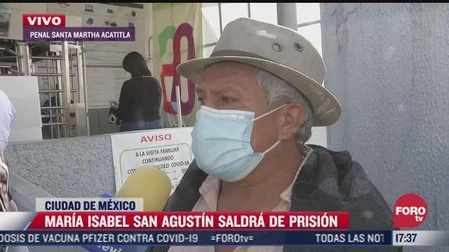 padre de maria isabel san agustin espera ilusionado la liberacion de su hija