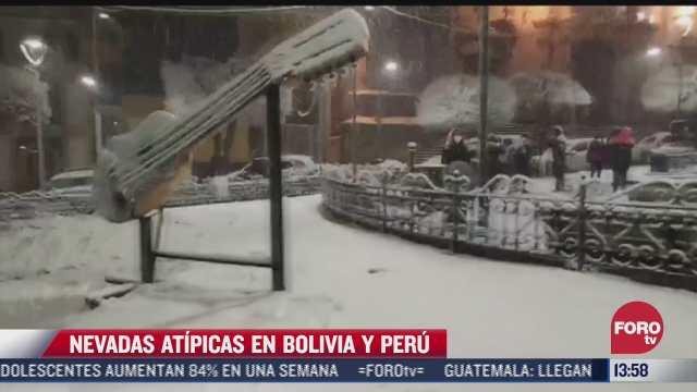 se registran nevadas atipicas en paises de sudamerica