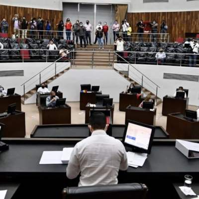Sesión del Congreso de Yucatán (Twitter: @CongresoYucatan)