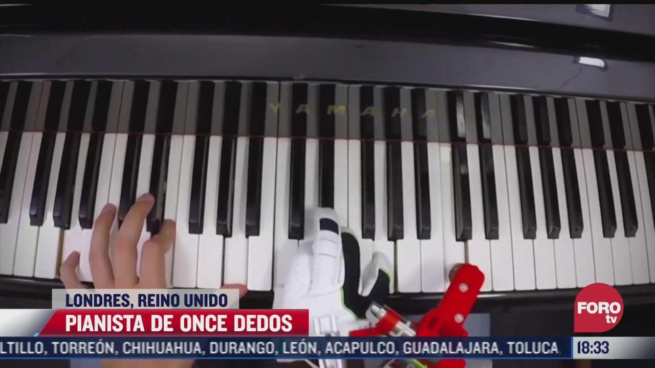 sorprenden pianista de once dedos en reino unido