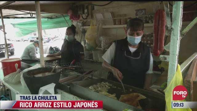 tras la chuleta rico arroz estilo japones
