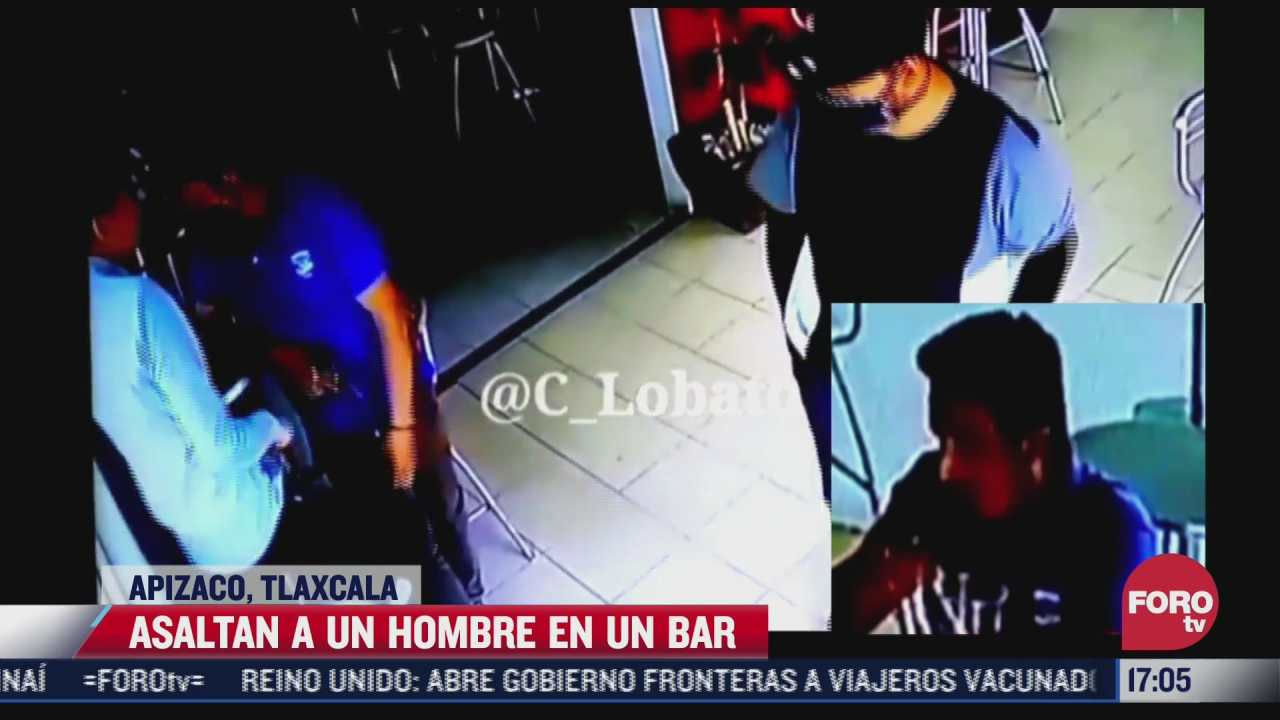 video asaltan a hombre en bar de apizco tlaxcala