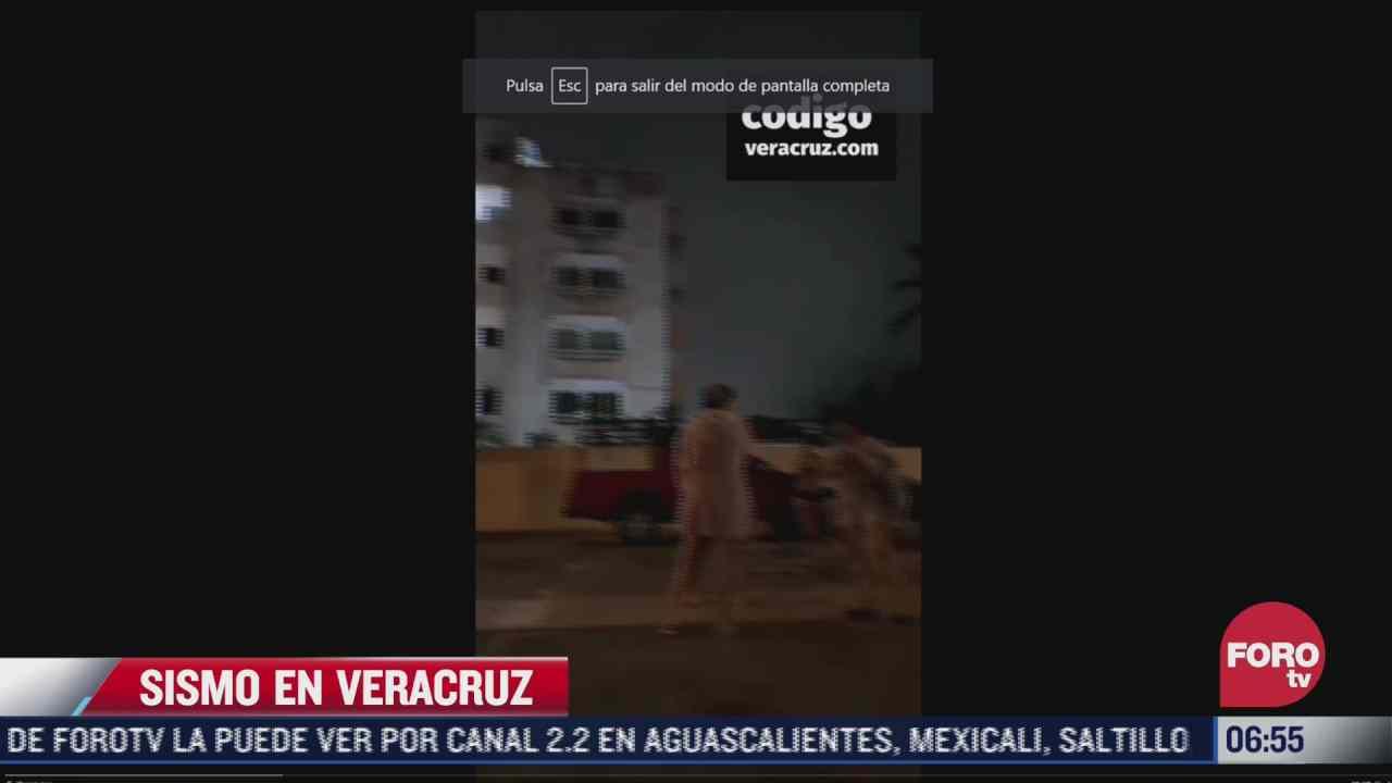 video asi se sintio el sismo en veracruz