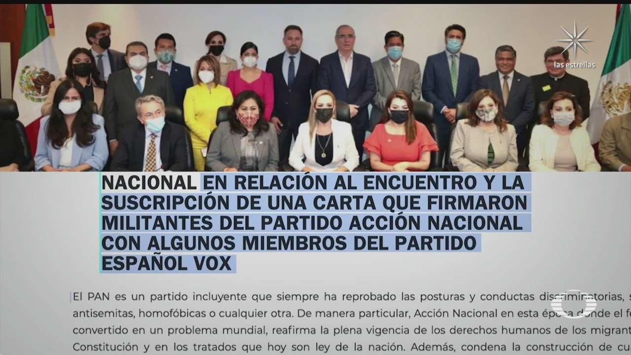 a titulo personal reunion de legisladores con lideres de vox