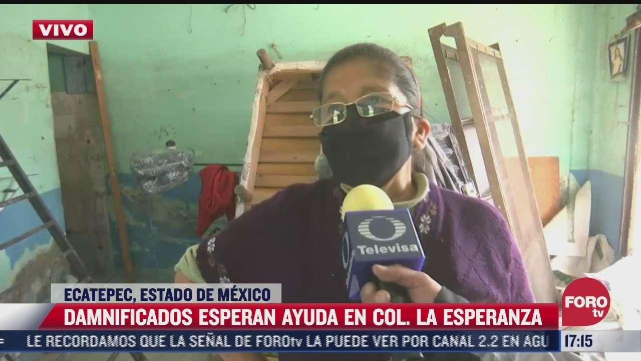 afectada por las inundaciones en ecatepec narra que lo perdio todo