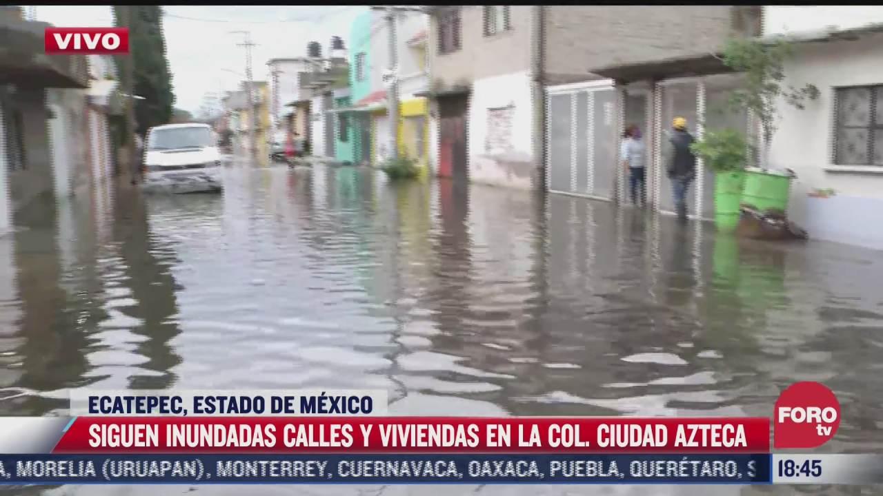 agua ya esta por amenazarnos nuevamente dice vecino de ecatepec