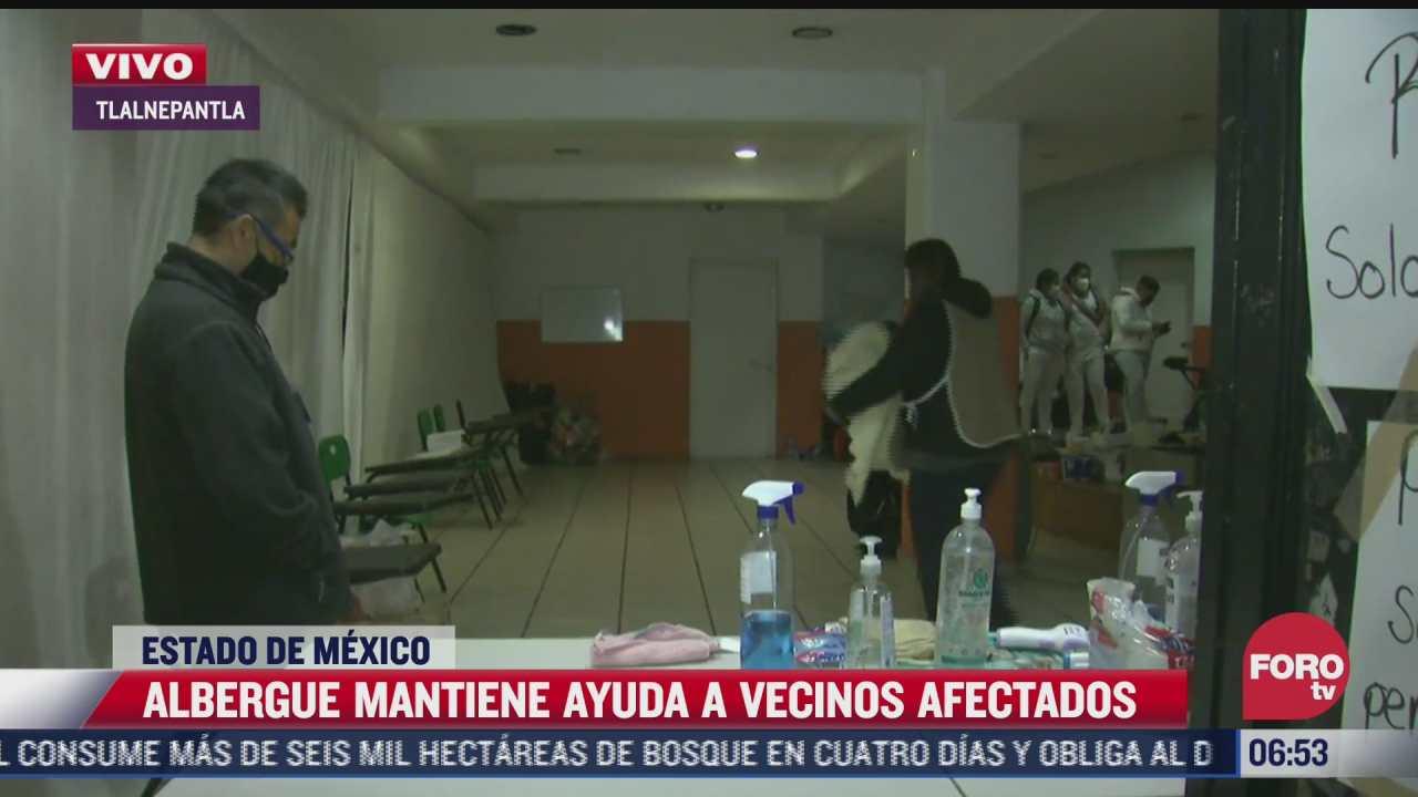 albergue mantiene ayuda a vecinos afectados por derrumbe en cerro del chiquihuite