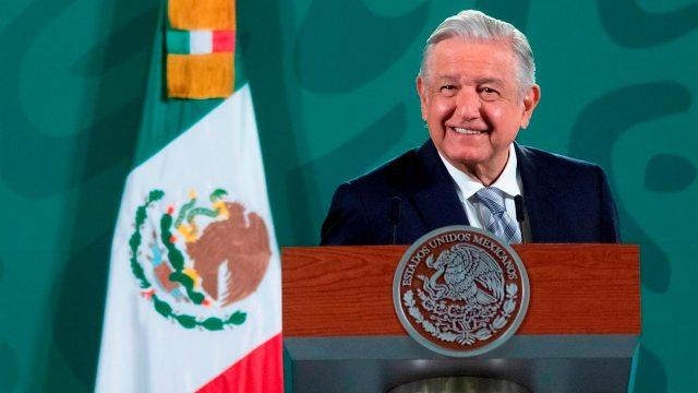 Andrés Manuel López Obrador durante la conferencia matutina en Palacio Nacional.