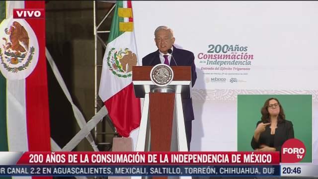 amlo encabeza ceremonia por 200 ano de la consumacion de la independencia de mexico