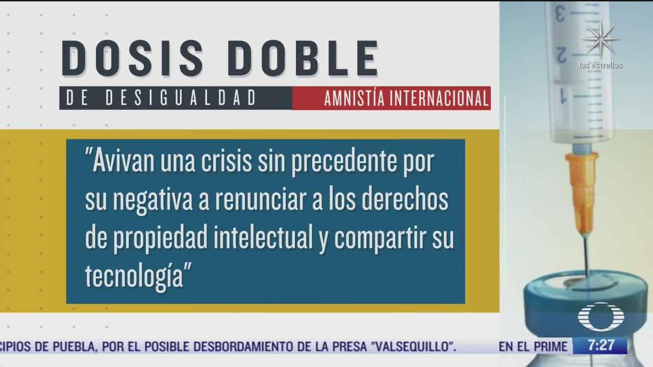 amnistia internacional critica a farmaceuticas por voracidad de ganancias y causar muertes evitables