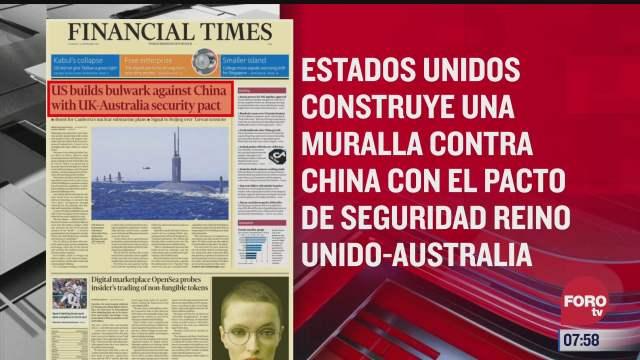 analisis de las portadas nacionales e internacionales del 16 de septiembre del