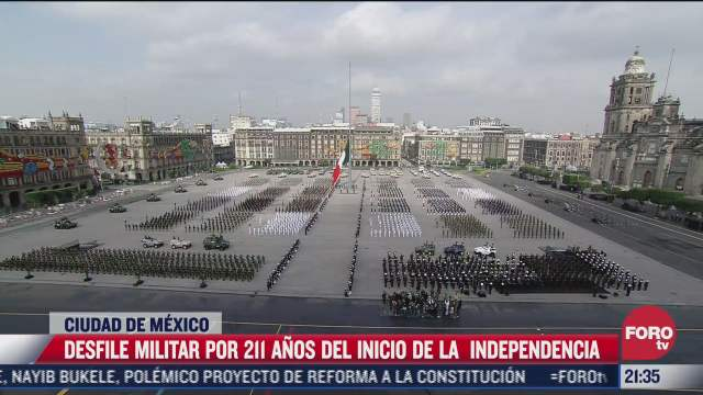 asi fue el desfile militar de este 16 de septiembre