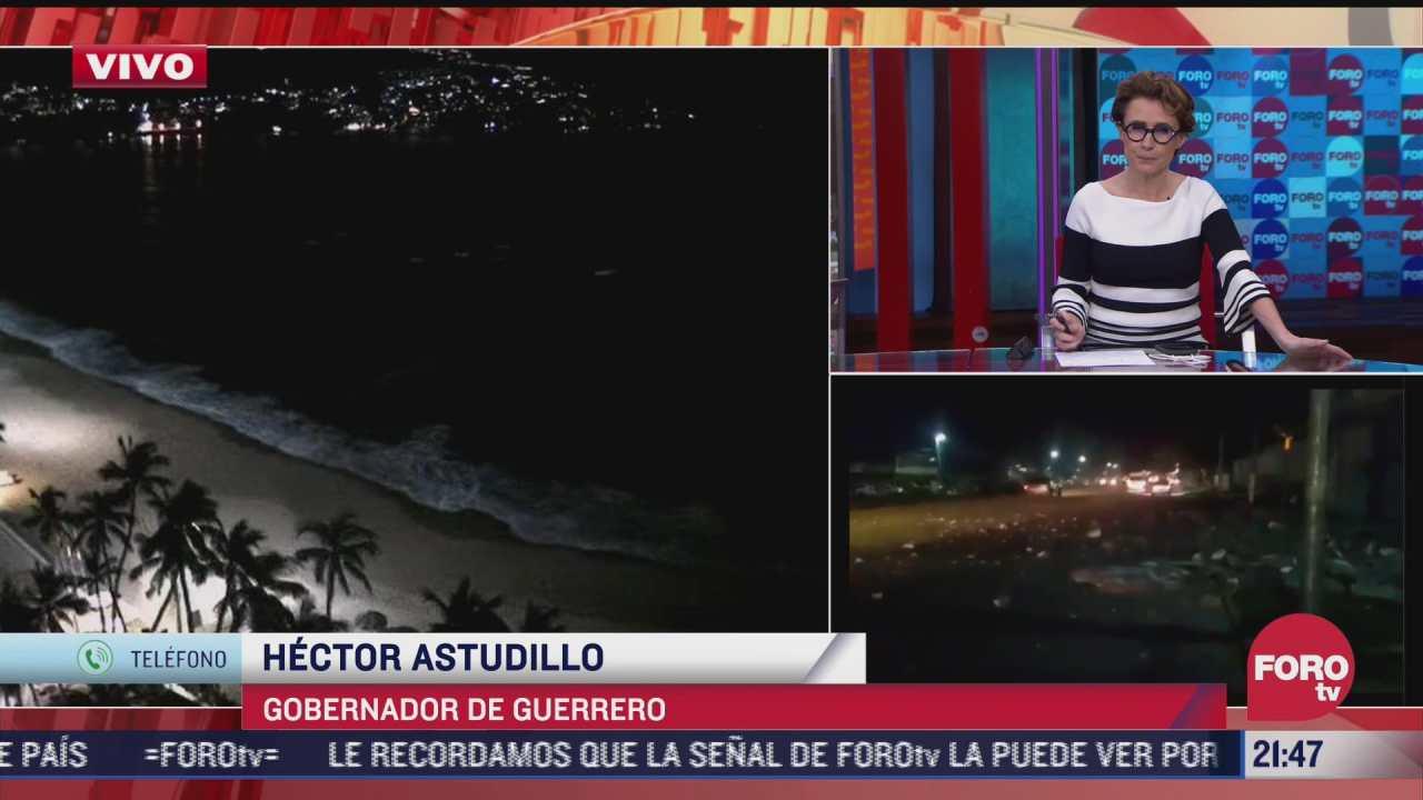 astudillo reporta algunos derrumbes en guerrero tras sismo magnitud