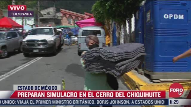 autoridades preparan simulacro en el cerro del chiquiuhite