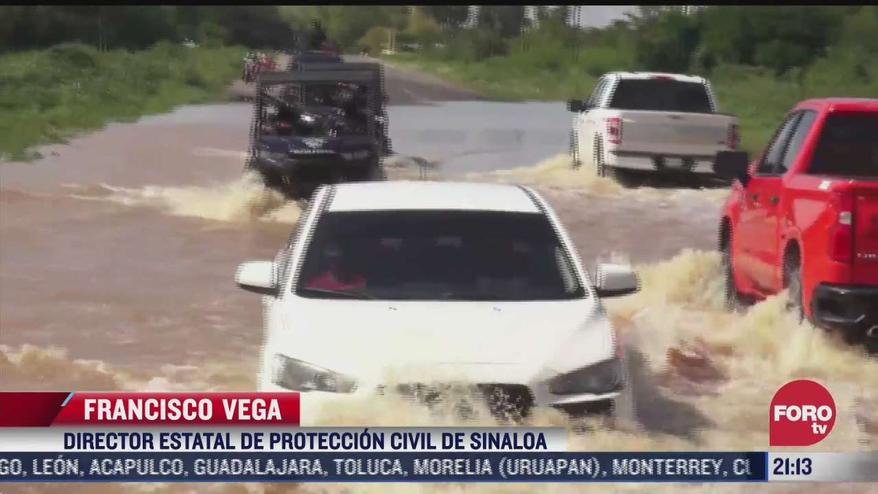 autoridades recorren zonas afectadas por lluvias en sinaloa