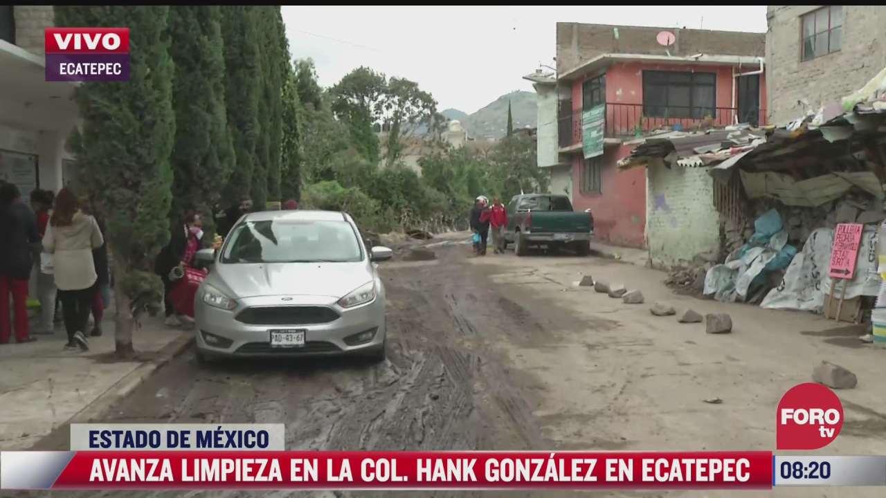 avanza limpieza en ecatepec estado de mexico tras inundaciones