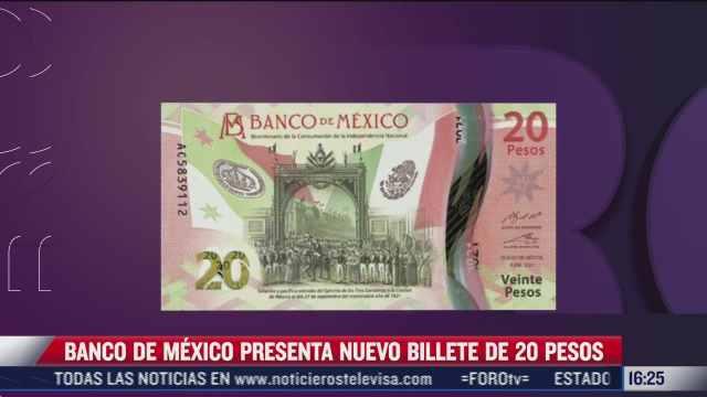 banxico presenta nuevo billete de 20 pesos