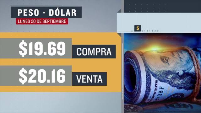 El dólar se vendió en $20.16 en la CDMX