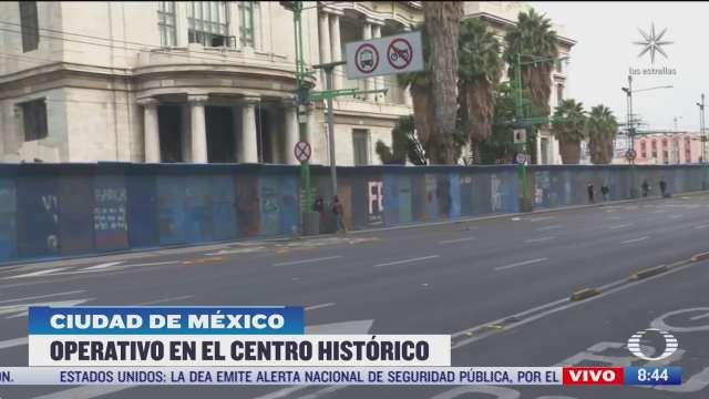 blindan con vallas edificios del centro historico por marchas feministas