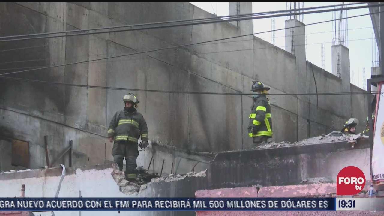 bomberos atienden emergencia en fabrica incendiada en cdmx