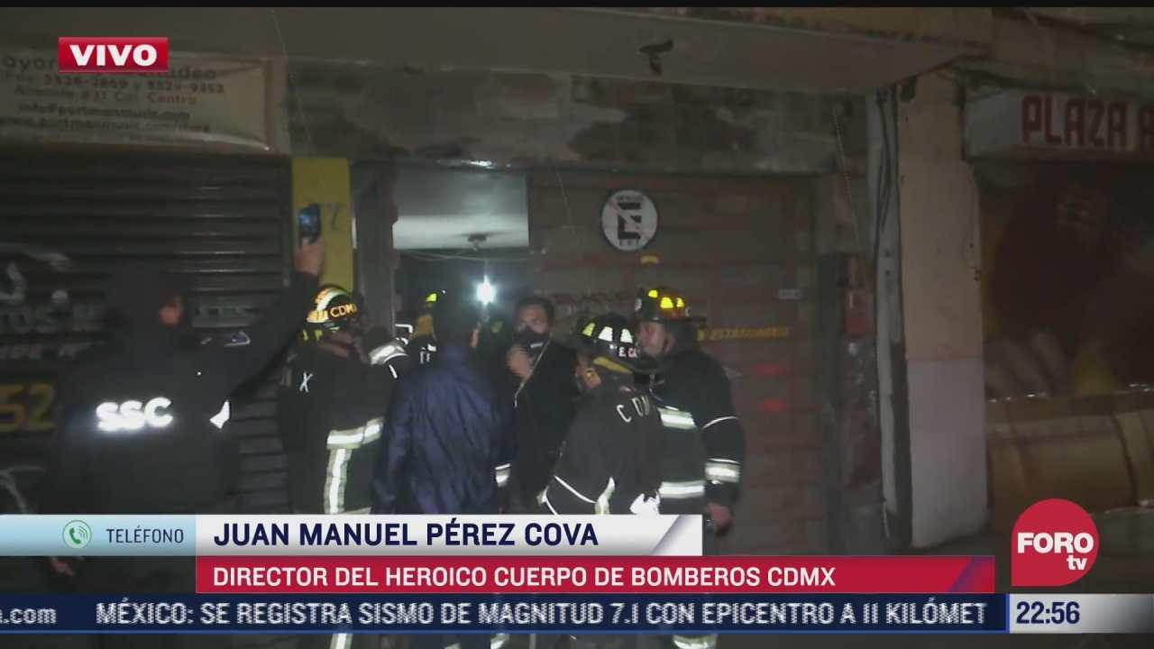 bomberos de la ciudad de mexico no reportan ningun dano tras el sismo